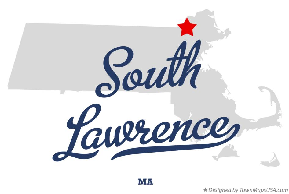 Map of South Lawrence Massachusetts MA
