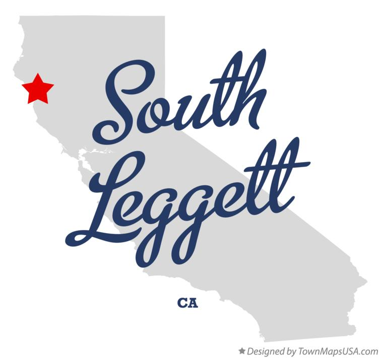 Map of South Leggett California CA
