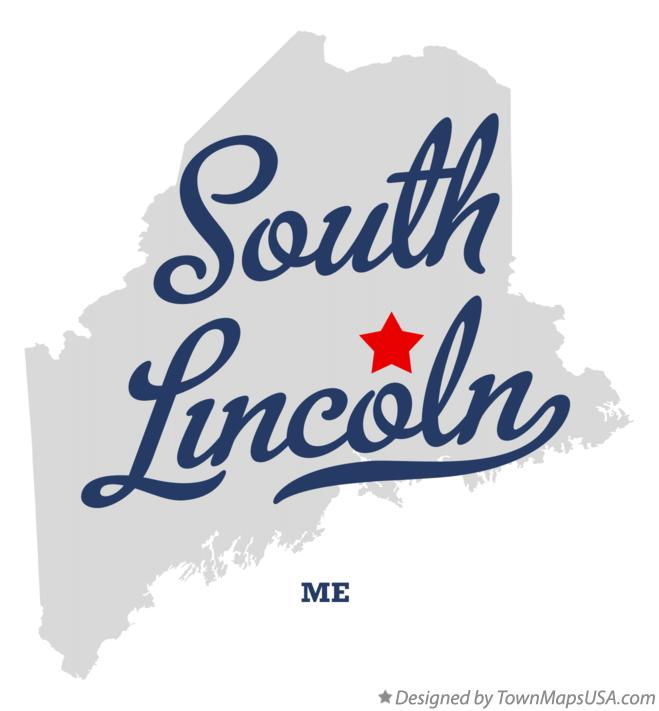 Map of South Lincoln Maine ME