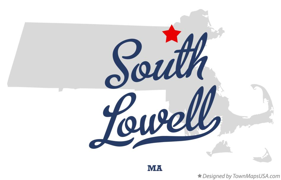 Map of South Lowell Massachusetts MA