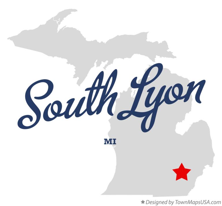 Map of South Lyon, MI, Michigan
