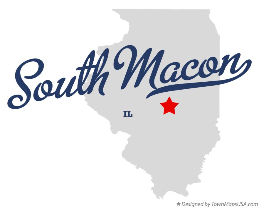 Map of South Macon Illinois IL