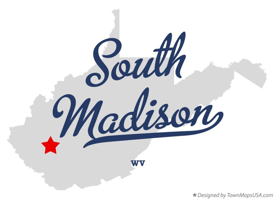 Map of South Madison West Virginia WV