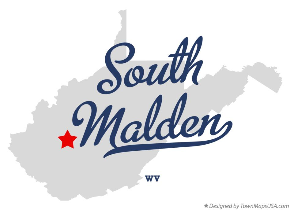 Map of South Malden West Virginia WV