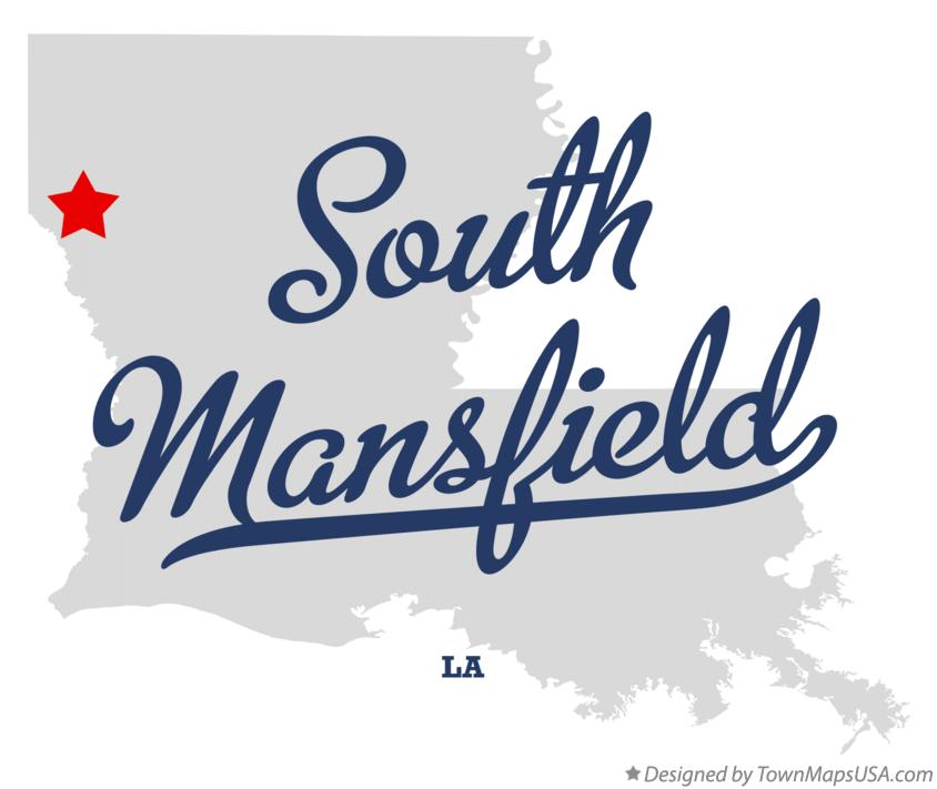 Map of South Mansfield Louisiana LA