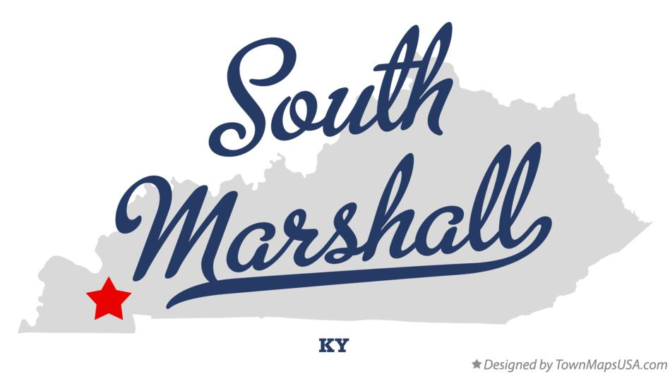 Map of South Marshall Kentucky KY