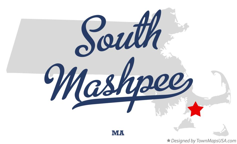 Map of South Mashpee Massachusetts MA