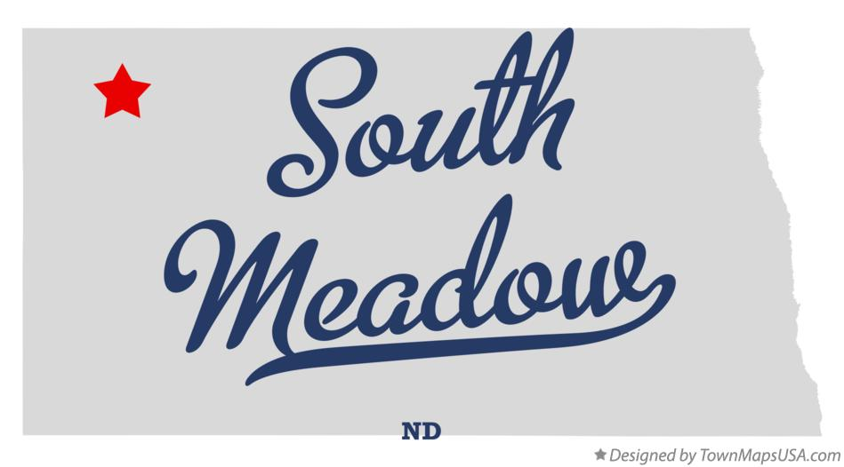 Map of South Meadow North Dakota ND
