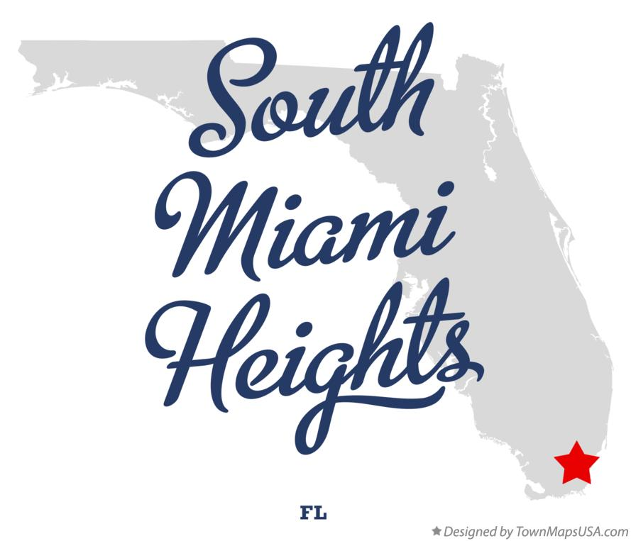 Map of South Miami Heights Florida FL