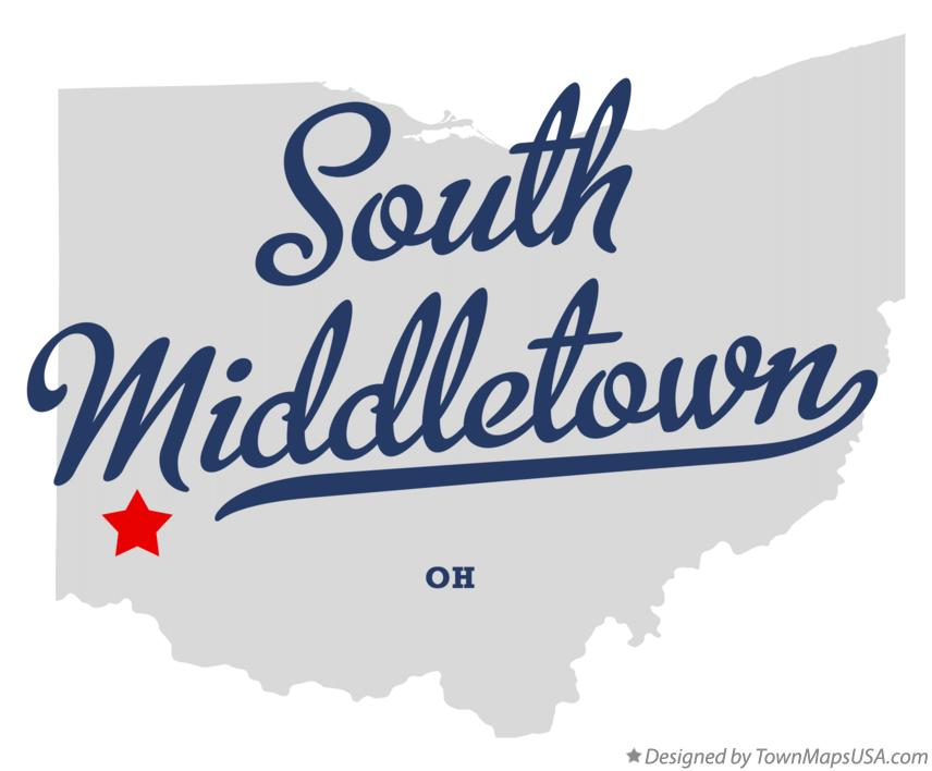 Map of South Middletown Ohio OH