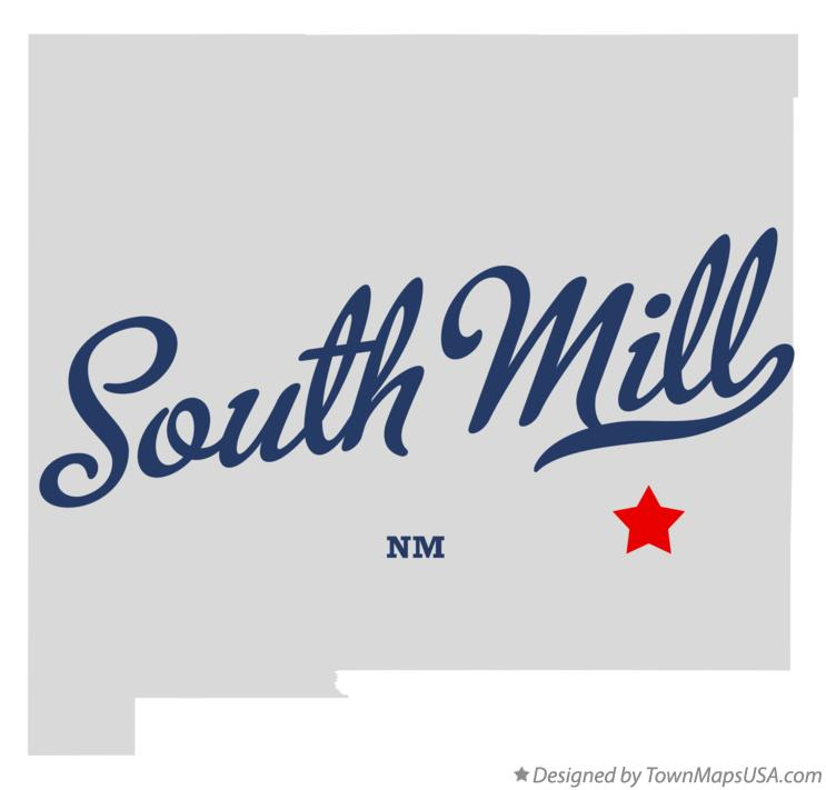 Map of South Mill New Mexico NM
