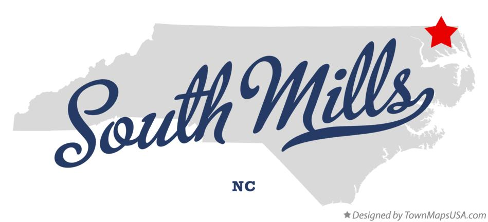 Map of South Mills North Carolina NC