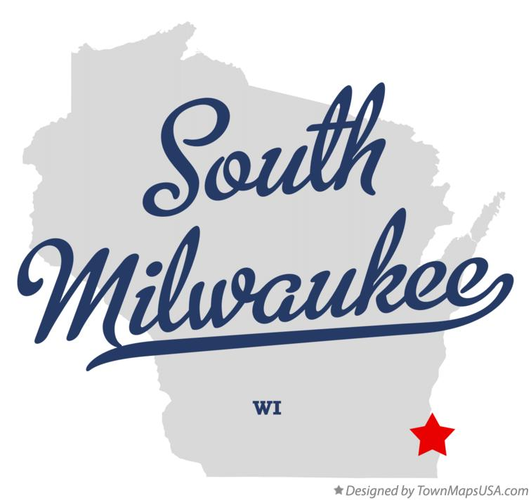 Map Of South Milwaukee Wi Wisconsin