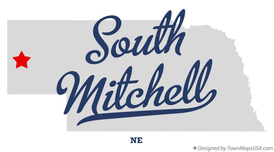 Map of South Mitchell Nebraska NE