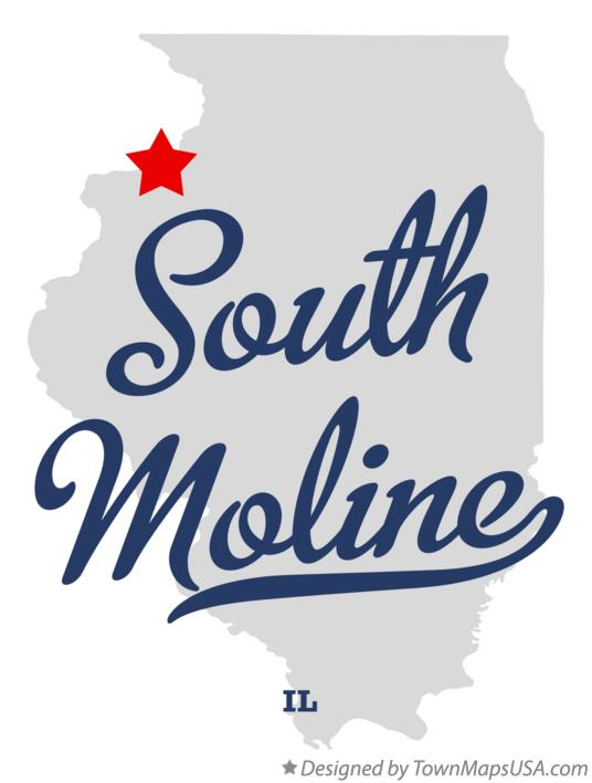 Map of South Moline Illinois IL