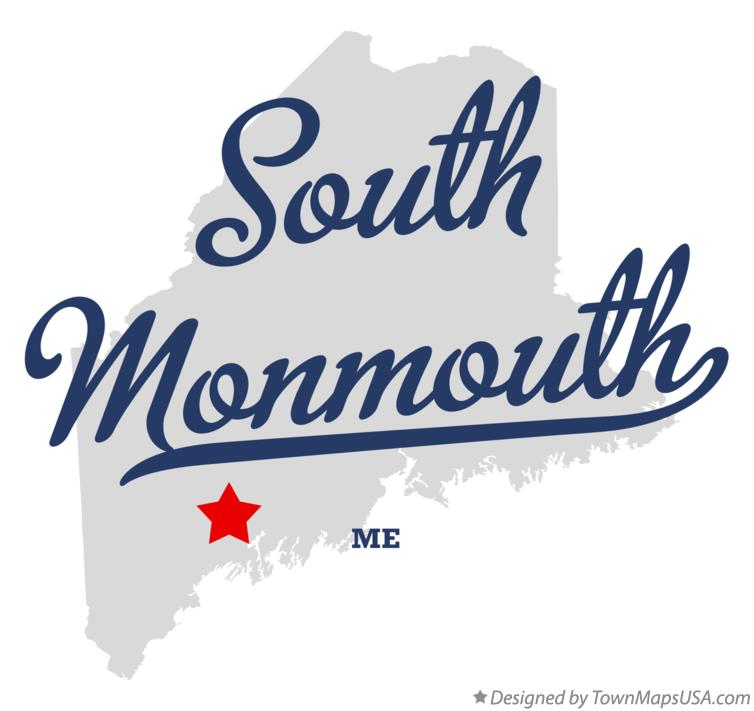 Map of South Monmouth Maine ME