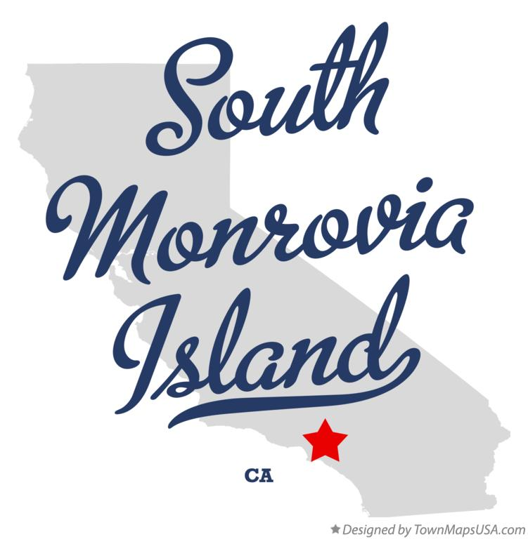 Map of South Monrovia Island California CA