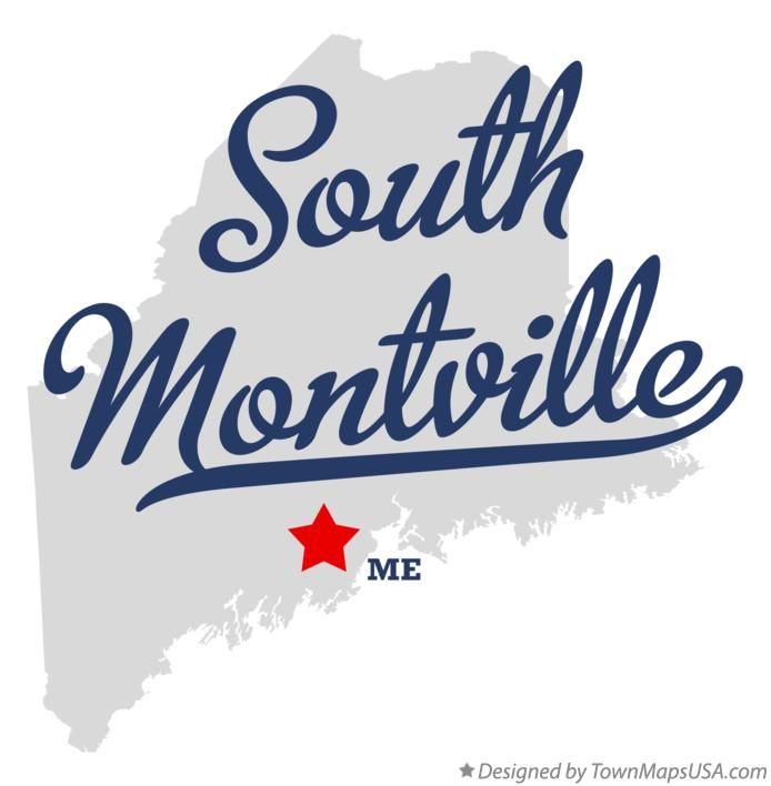Map of South Montville Maine ME