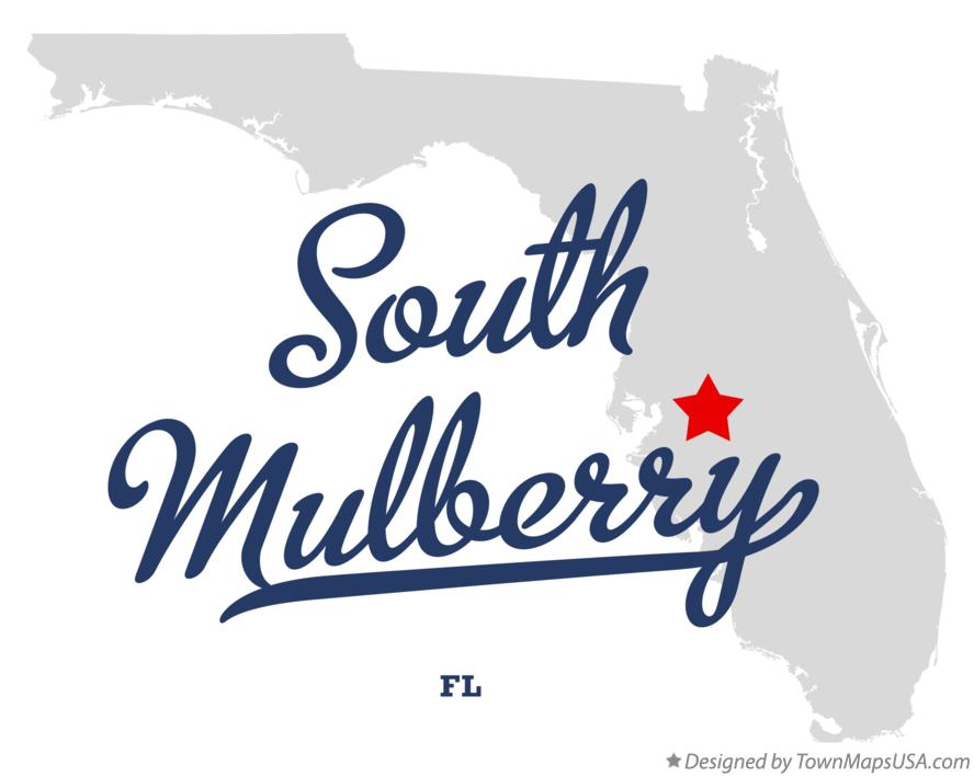 Map of South Mulberry Florida FL