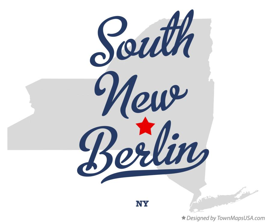Map of South New Berlin New York NY