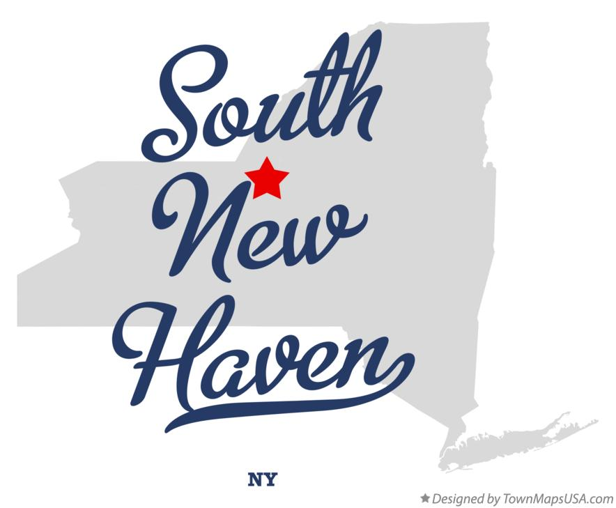 Map of South New Haven New York NY