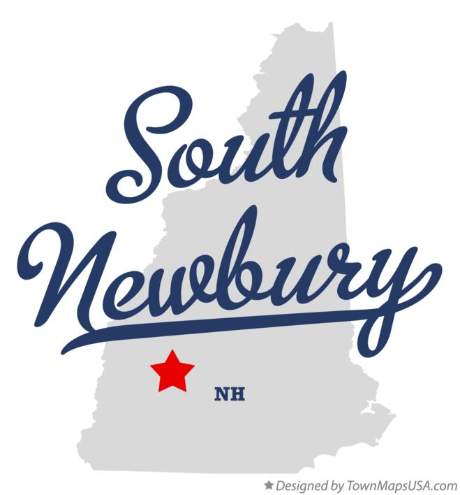 Map of South Newbury New Hampshire NH