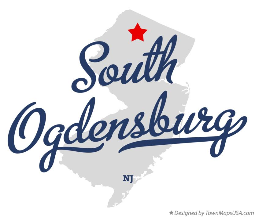 Map of South Ogdensburg New Jersey NJ