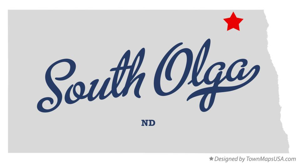 Map of South Olga North Dakota ND