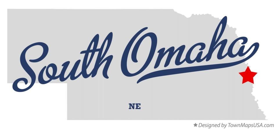 Map of South Omaha Nebraska NE
