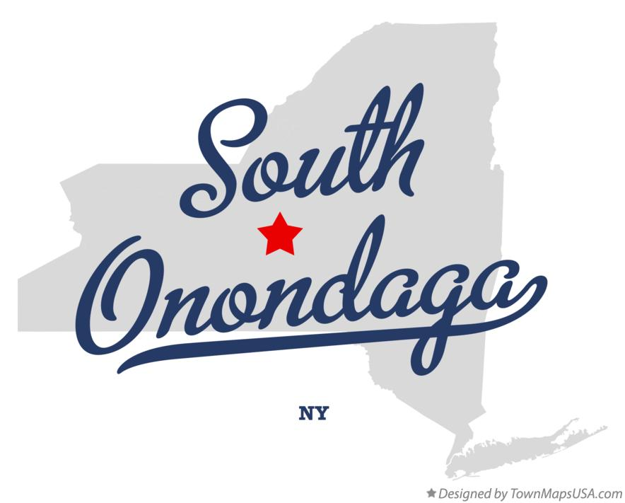Map of South Onondaga New York NY