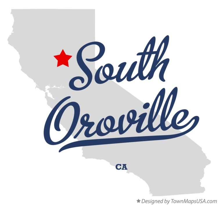 Map of South Oroville California CA