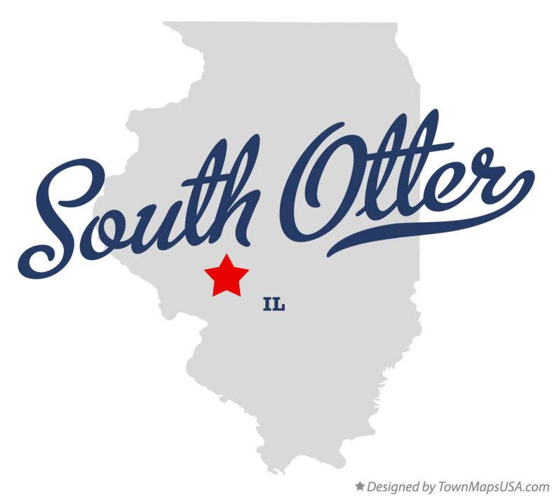 Map of South Otter Illinois IL