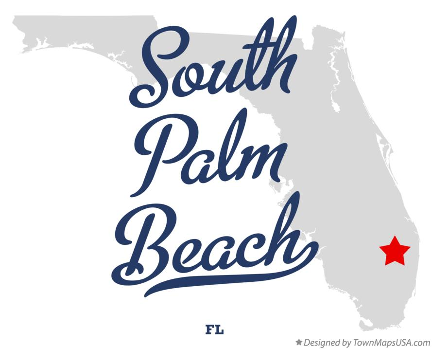 Map of South Palm Beach Florida FL