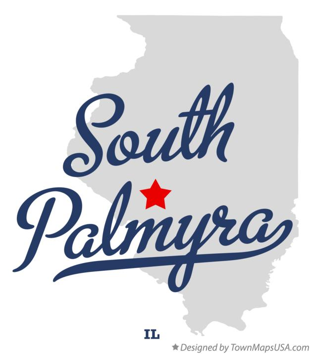 Map of South Palmyra Illinois IL