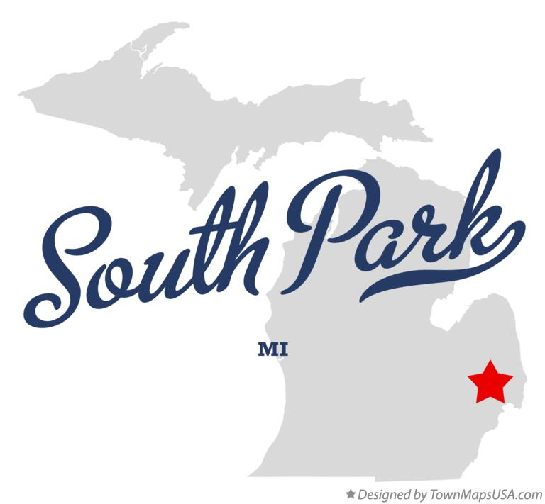 Map of South Park Michigan MI