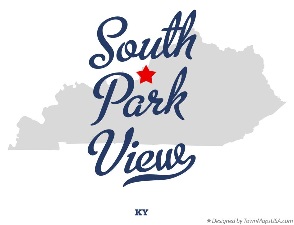 Map of South Park View Kentucky KY