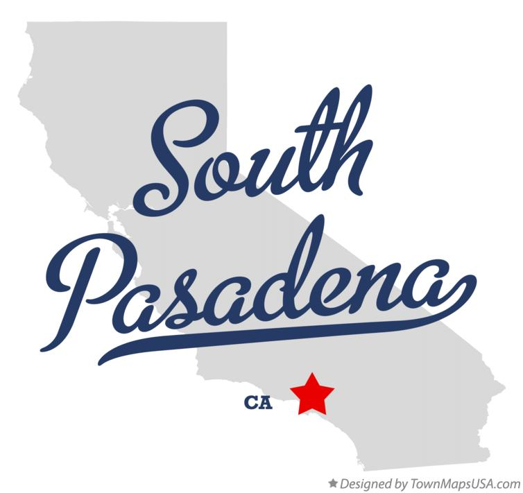 Map of South Pasadena California CA
