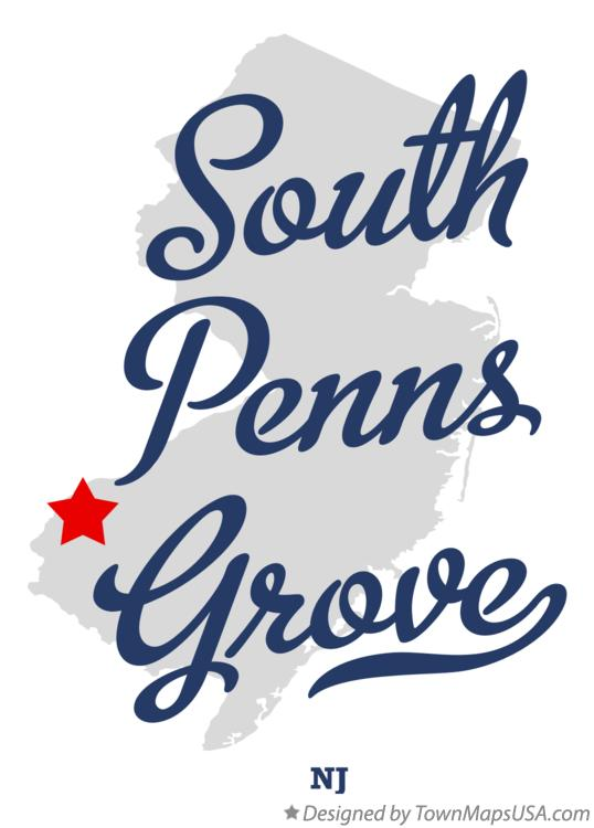 Map of South Penns Grove New Jersey NJ