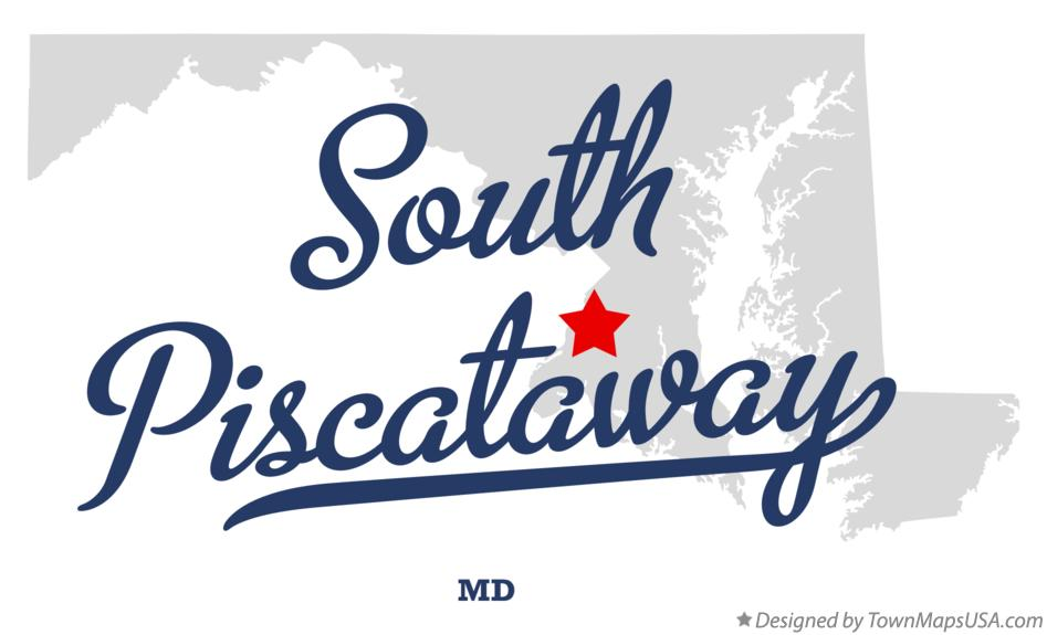Map of South Piscataway Maryland MD