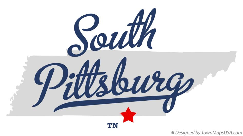 Map of South Pittsburg Tennessee TN
