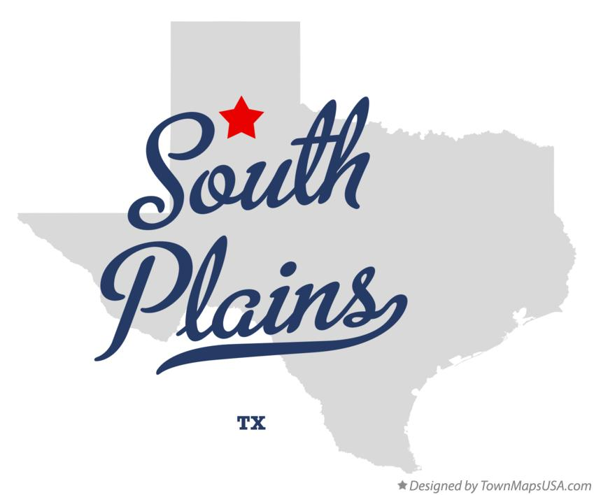 Map of South Plains Texas TX