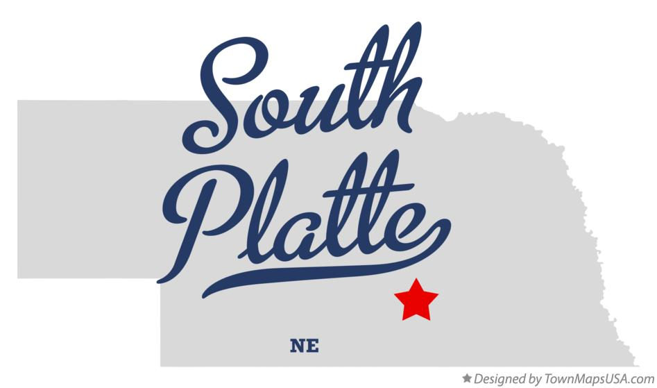 Map of South Platte Nebraska NE