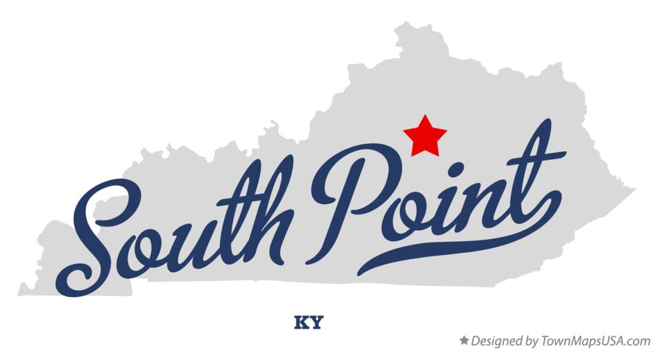 Map of South Point Kentucky KY