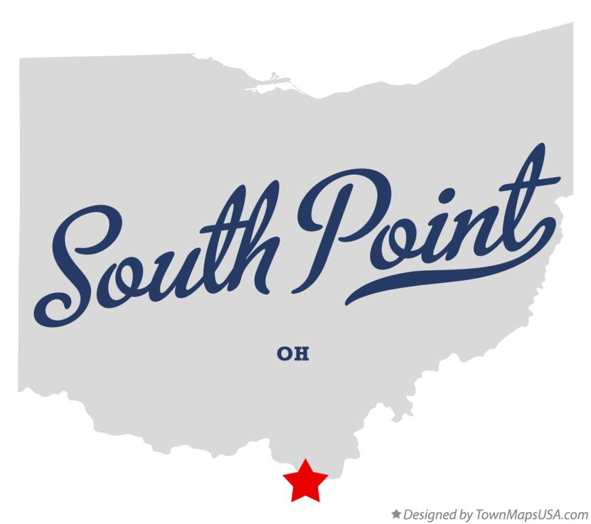 Map of South Point Ohio OH