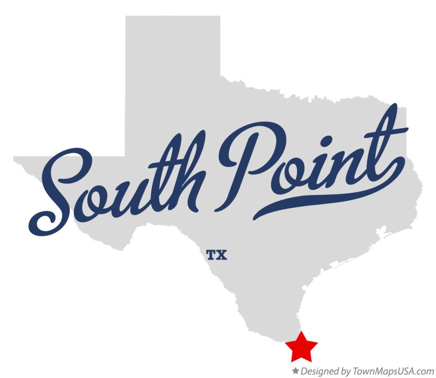 Map of South Point Texas TX