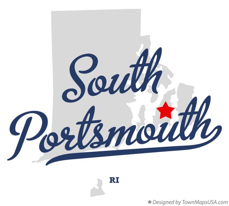 Map of South Portsmouth Rhode Island RI