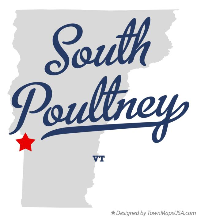 Map of South Poultney Vermont VT