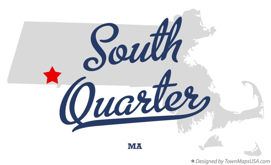 Map of South Quarter Massachusetts MA