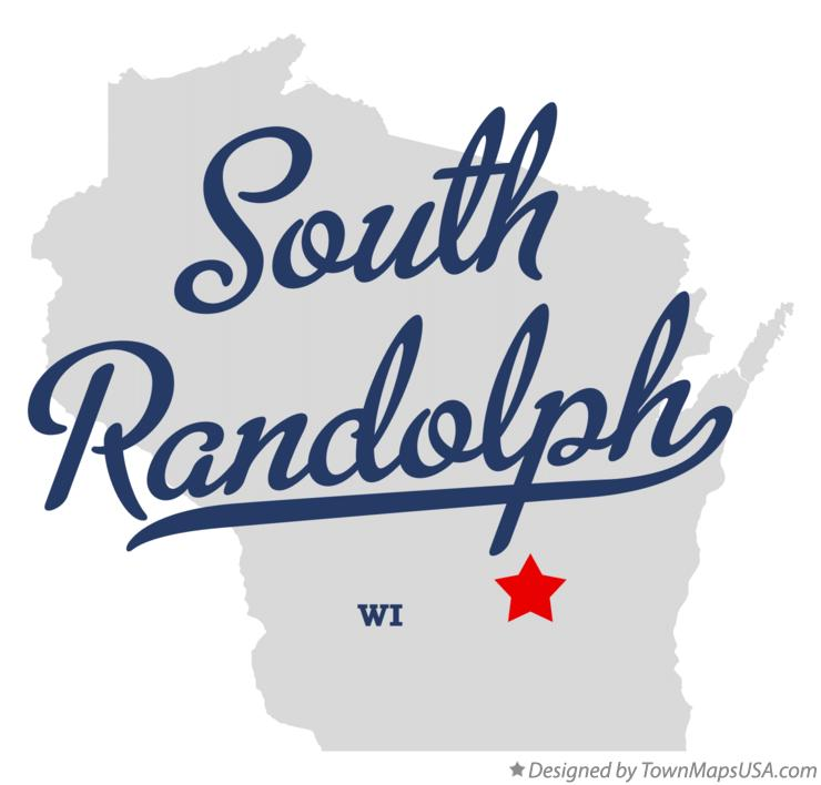 Map of South Randolph Wisconsin WI