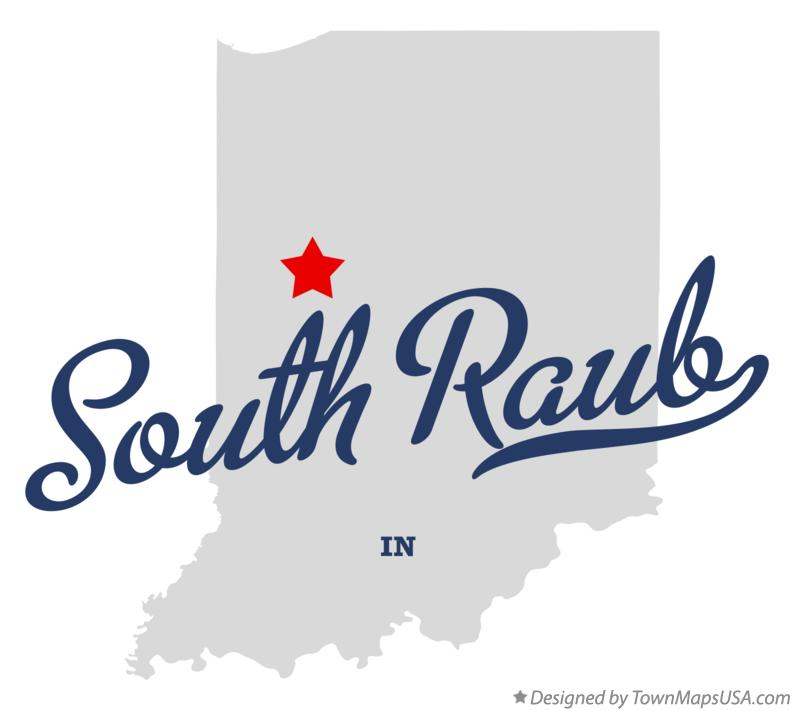 Map of South Raub Indiana IN